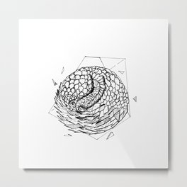 Geometric Season1:10 Pangolin Metal Print