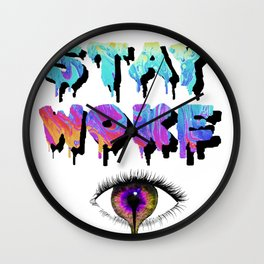 Stay Woke Pastel Wall Clock