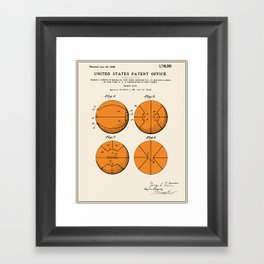 Basketball Patent Framed Art Print