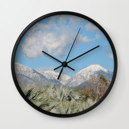 From Chaparral To Snow Wall Clock