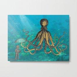 Octopus & The Diver Metal Print