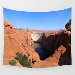 Glen Canyon Dam And Colorado River Wall Tapestry