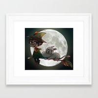 moomin Framed Art Prints featuring Moon-min by lemonteaflower