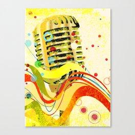 Jazz Microphone Poster Canvas Print