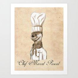 Chef Marcel Pascal Art Print