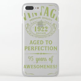Green-Vintage-Limited-1922-Edition---95th-Birthday-Gift Clear iPhone Case