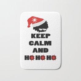 Keep calm and ho ho ho Bath Mat