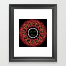 Joy to the world, swirling festive design with text Framed Art Print