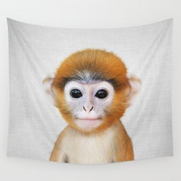 Baby Monkey - Colorful Wall Tapestry