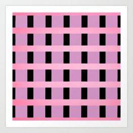 The Pink Line Art Print