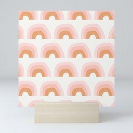 Abstract Playground Rainbow | Pink Mini Art Print