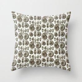 Ernst Haeckel Ammonitida Ammonite Throw Pillow