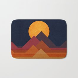 Full moon and pyramid Bath Mat