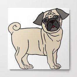 Pug-licious! Metal Print