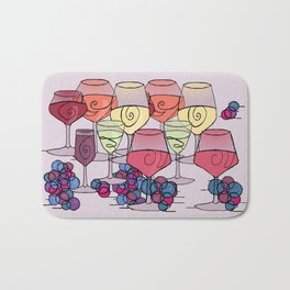 Wine and Grapes v2 Bath Mat