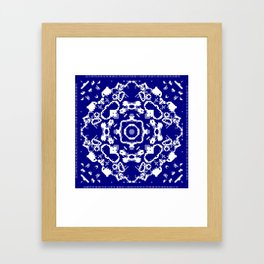 CA Fantasy Deep Blue-White series #8 Framed Art Print