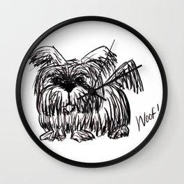 Woof :: A Dust Mop Dog Wall Clock
