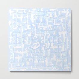 Tie-die, blue, light-blue, pale-blue, Tiedie, Tyedye, Tyedye, Tiedye, abstract, line, minimal, stripes. Metal Print