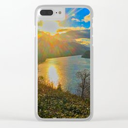 Columbia River Gorge, Sunset Clear iPhone Case