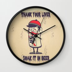 Thank Your Liver Wall Clock