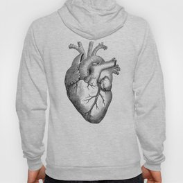 Real Anatomical Human Heart Drawing Hoody