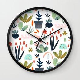 miniature garden Wall Clock