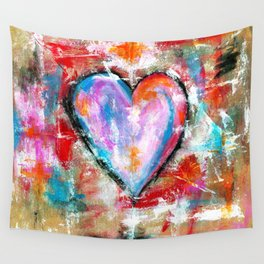 Reckless Heart, Abstract Art Painting Wall Tapestry