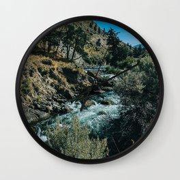 Yellowstone River in Gardiner Montana Wall Clock