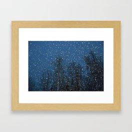 Falling Snow 3 Framed Art Print