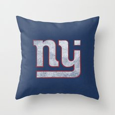 New Jersey Football Giants Throw Pillow