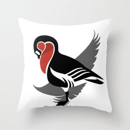 Red-breasted goose (Branta ruficollis) Throw Pillow