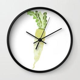 Daikon radish illustration Wall Clock