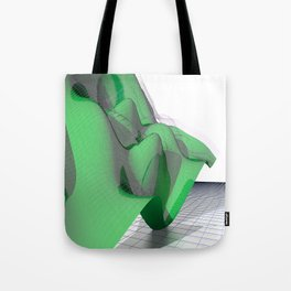 Waving Math Surface Green Tote Bag
