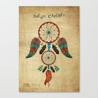 dream catcher Canvas Prints featuring DREAM CATCHER by Heaven7