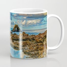 Arch Rock at Very Low Tide Coffee Mug