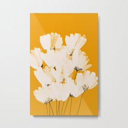 Flowers In Tangerine Metal Print