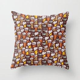 Beer Pattern | Oktoberfest Hops Malt Brewery Throw Pillow