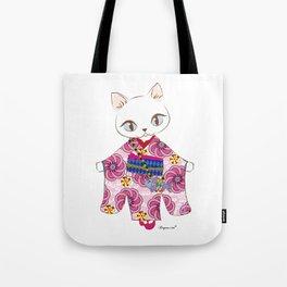 Kimono cat Tote Bag