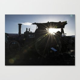 Steam Silhouette  Canvas Print