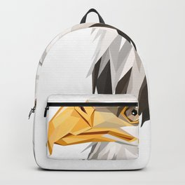 Triangular Geometric American Bald Eagle Head Backpack