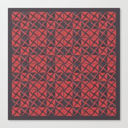 Patternsmith Triangles Red Canvas Print