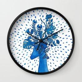 Flowery fawn Wall Clock