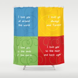 Love Collage.  Shower Curtain