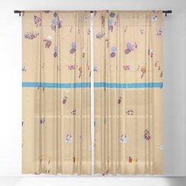 Tanning Days  Sheer Curtain