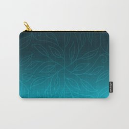 Blue boho leaves Carry-All Pouch
