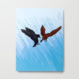 Blackbird Attack Metal Print