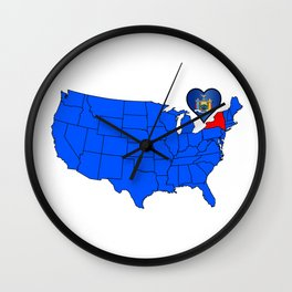State of New York Wall Clock