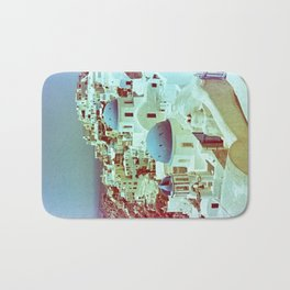 Santorini in Raspberry and Blue: shot using Revolog 600nm special effects film Bath Mat