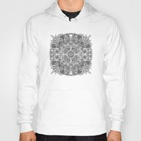 weed Hoodies featuring Mandala Weed by Bad Mandala