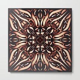 Intense Burning Passion Mandala Flower - Fire Spirit Metal Print